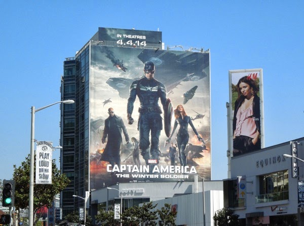 Giant Captain America Winter Soldier movie billboard