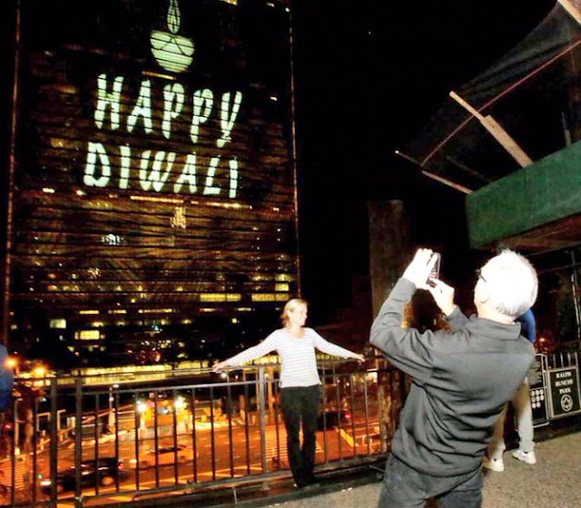 UN lights up for Diwali