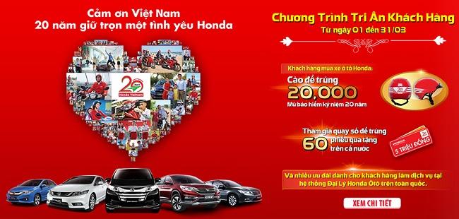 Kỷ niệm 20 năm thành lập, Honda VN tri ân khách hàng