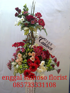 rangkaian bunga standing flower peresmian kantor
