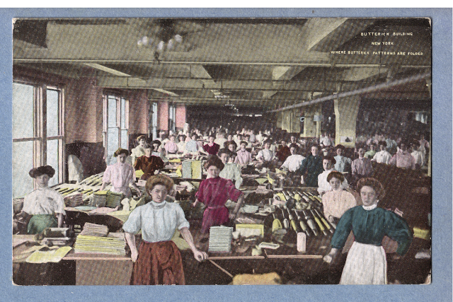 Butterick Patterns shop floor (Image courtesy Ebay seller)