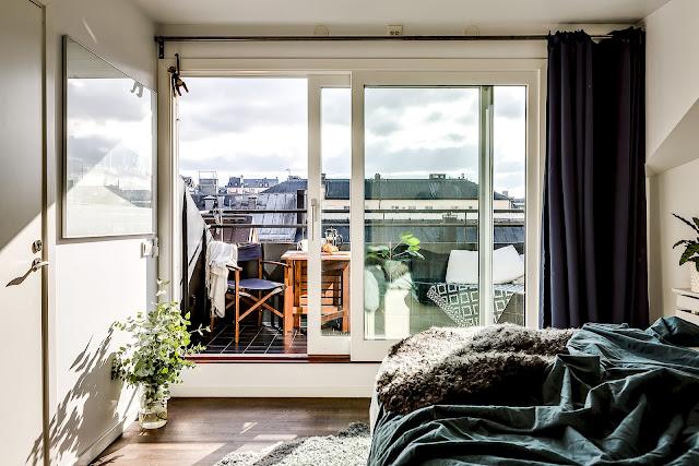 dormitor cu balcon