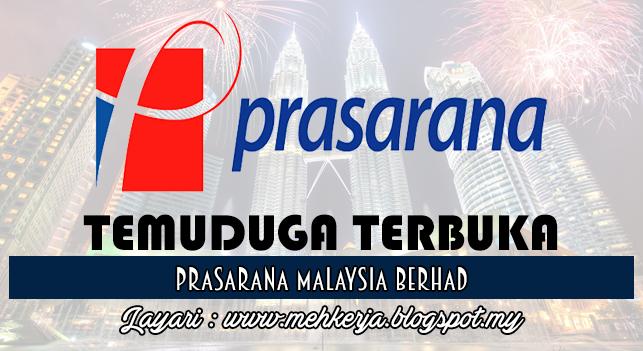 Temuduga Terbuka 2016 di Prasarana Malaysia Berhad