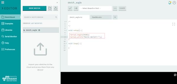 Código arduino na IDE