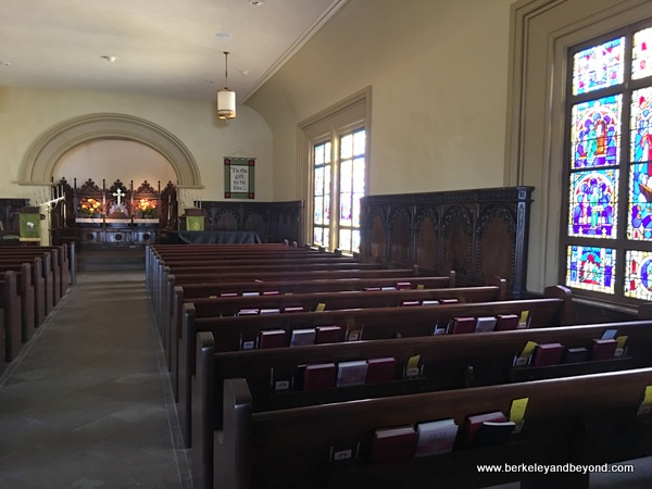 interior of Church of the Wayfarer in Carmel, California
