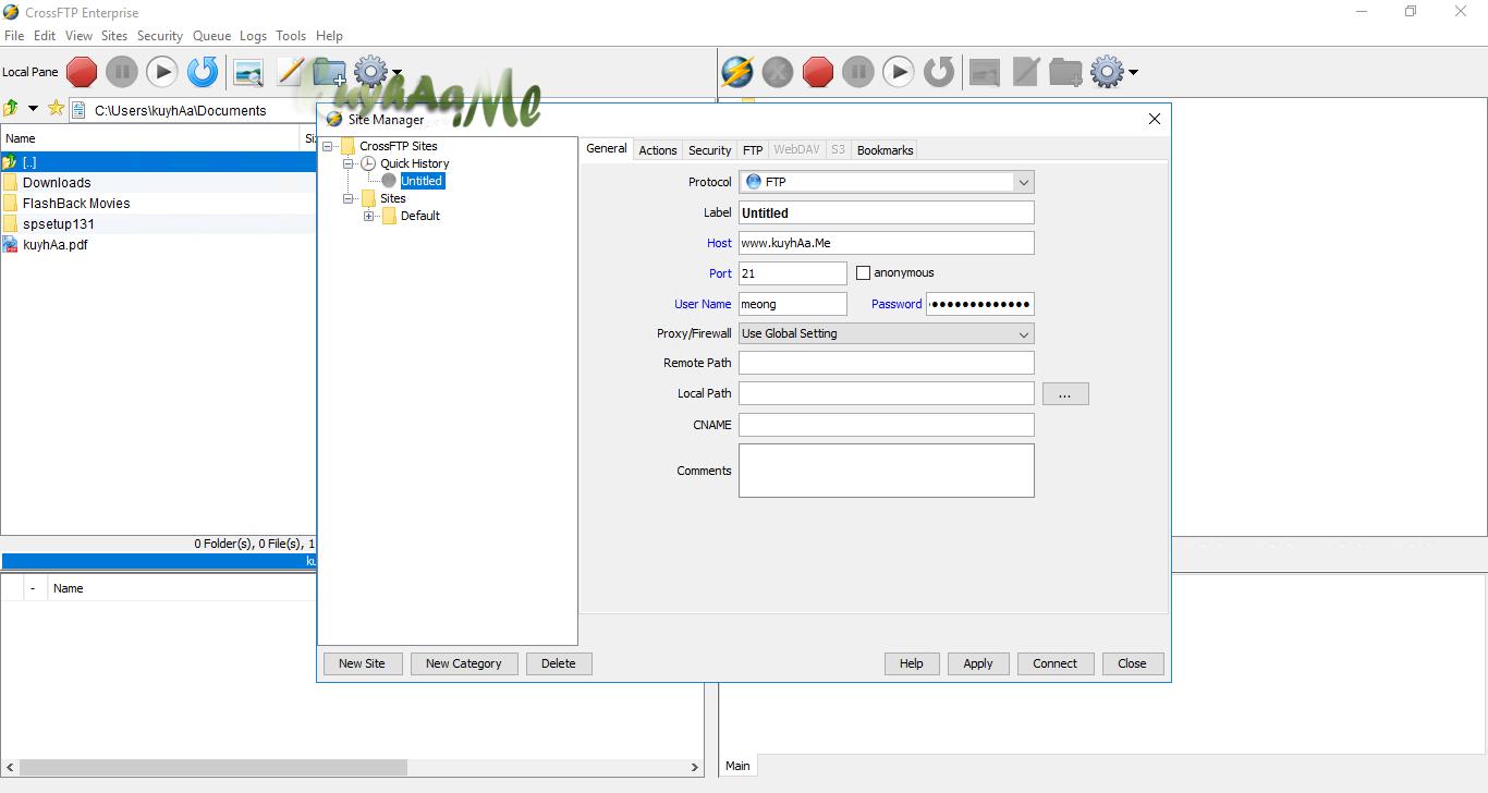 Crossworld CrossFTP Enterprise
