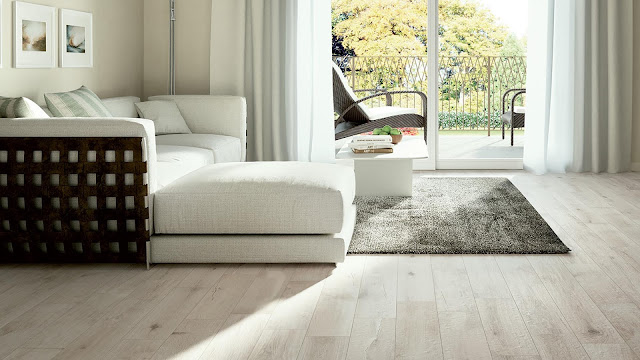 Italian porcelain tile for living room with ANGEL collection