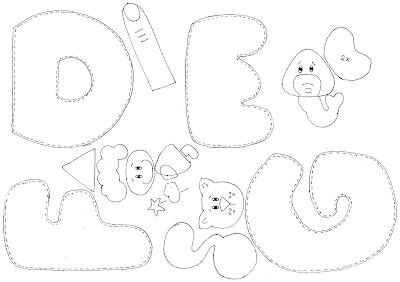 Moldes alfabeto ilustrado em EVA
