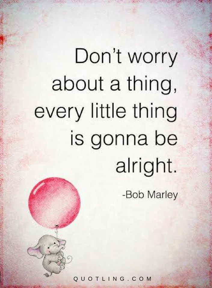 Don T Worry Quotes Impressive Don't Worry About A Thing Every Little Thing Is Gonna Be Alright