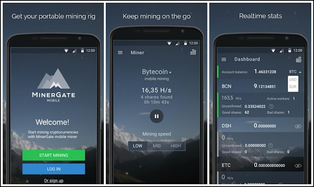 MinerGate-Mobile-Miner-Screenshot
