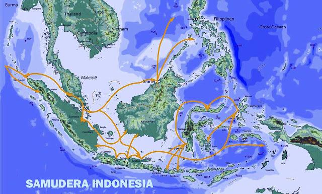 Gambar Peta masuknya Islam ke Indonesia