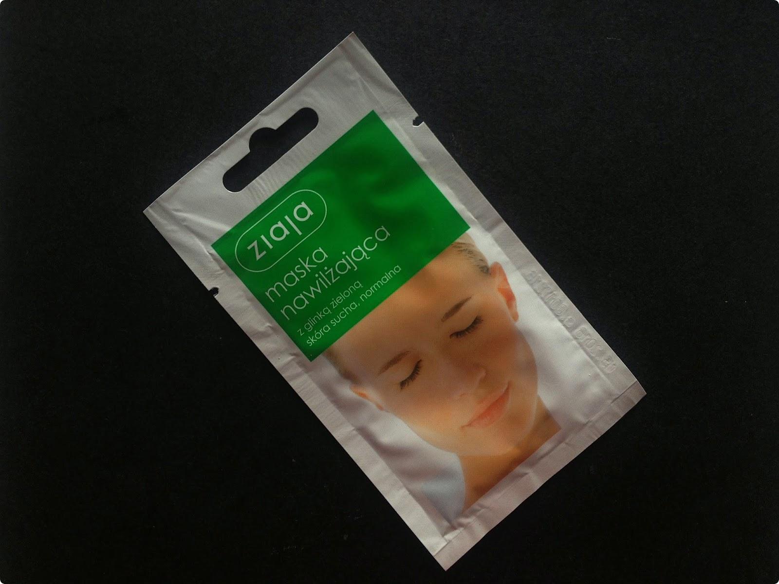 Maska nawilżająca z glinką zieloną, Ziaja