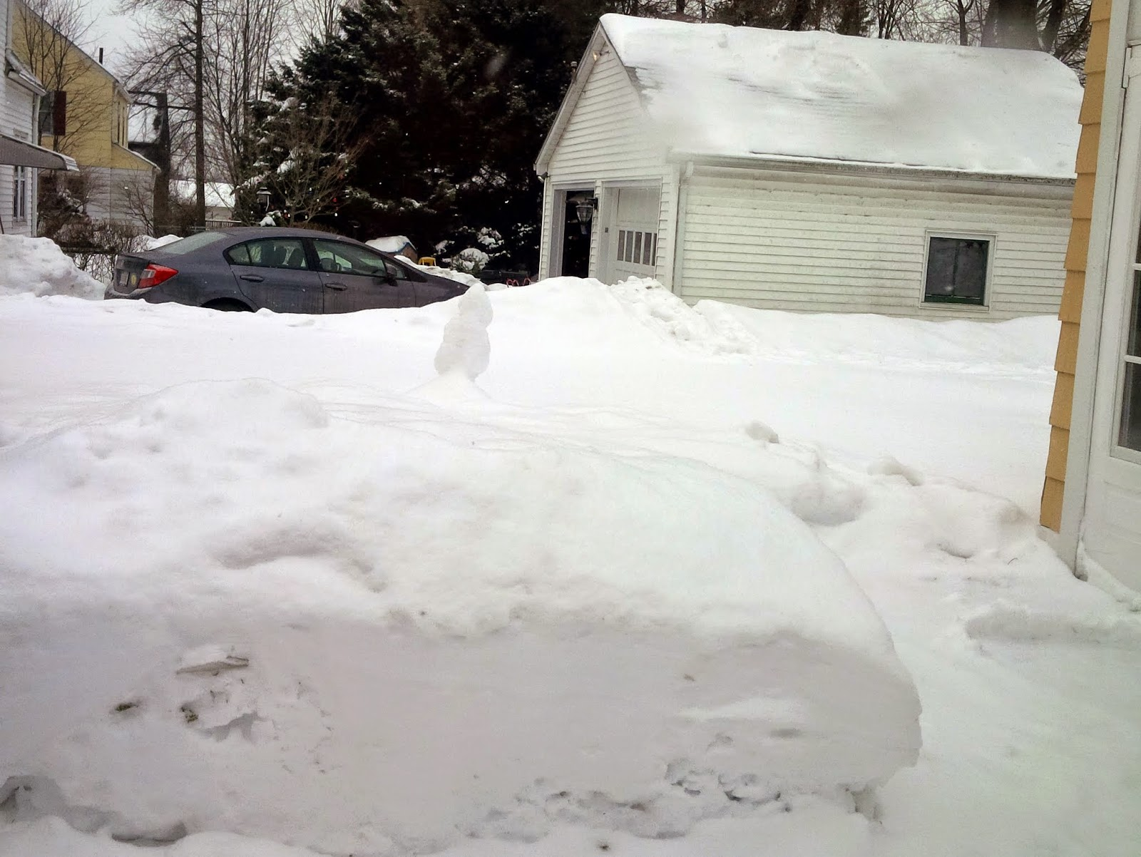 Snow in New England. Not pretty.
