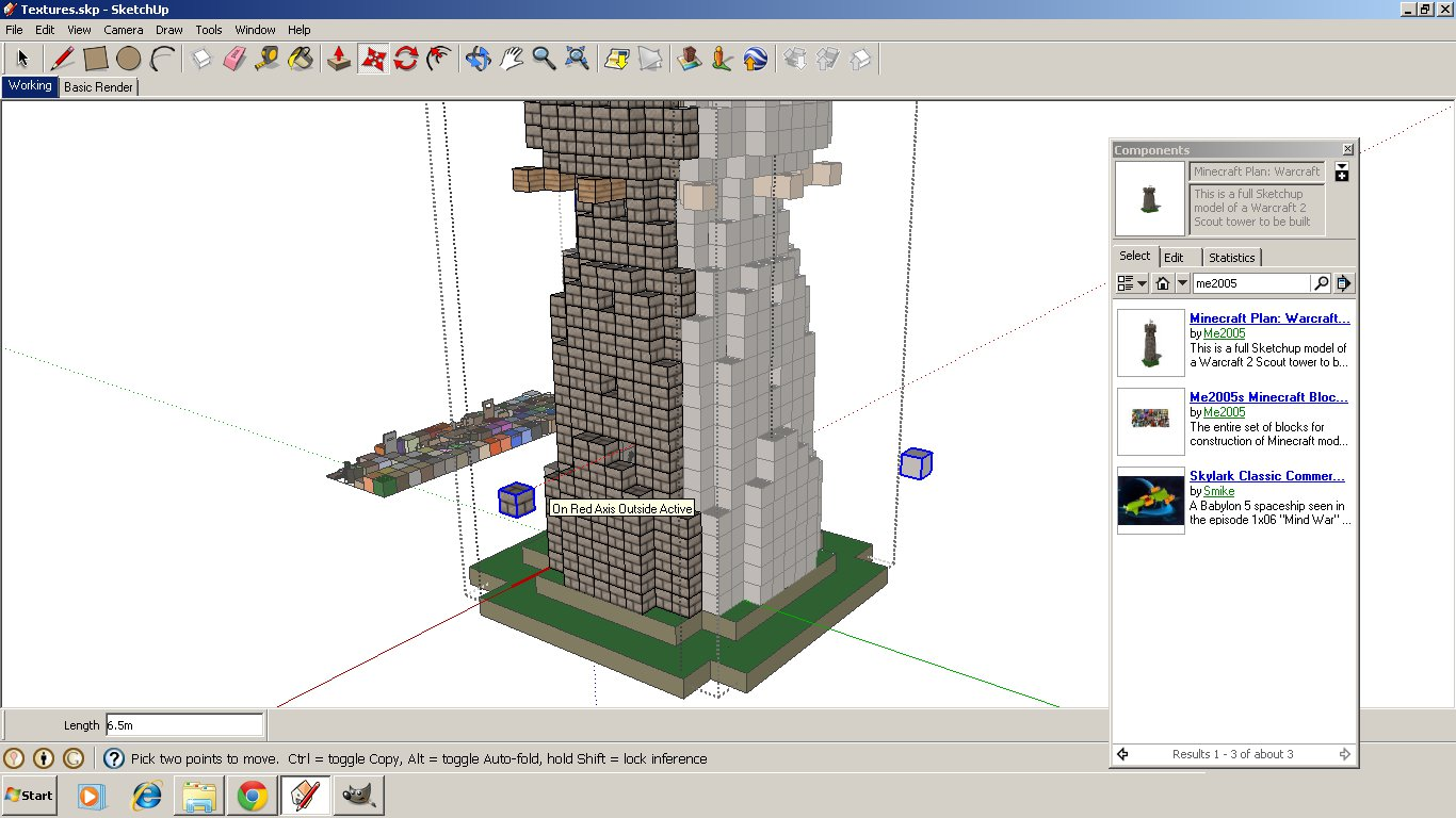 Me2005's Minecraft Builders Blog: Tutorial: How to Use Sketchup to