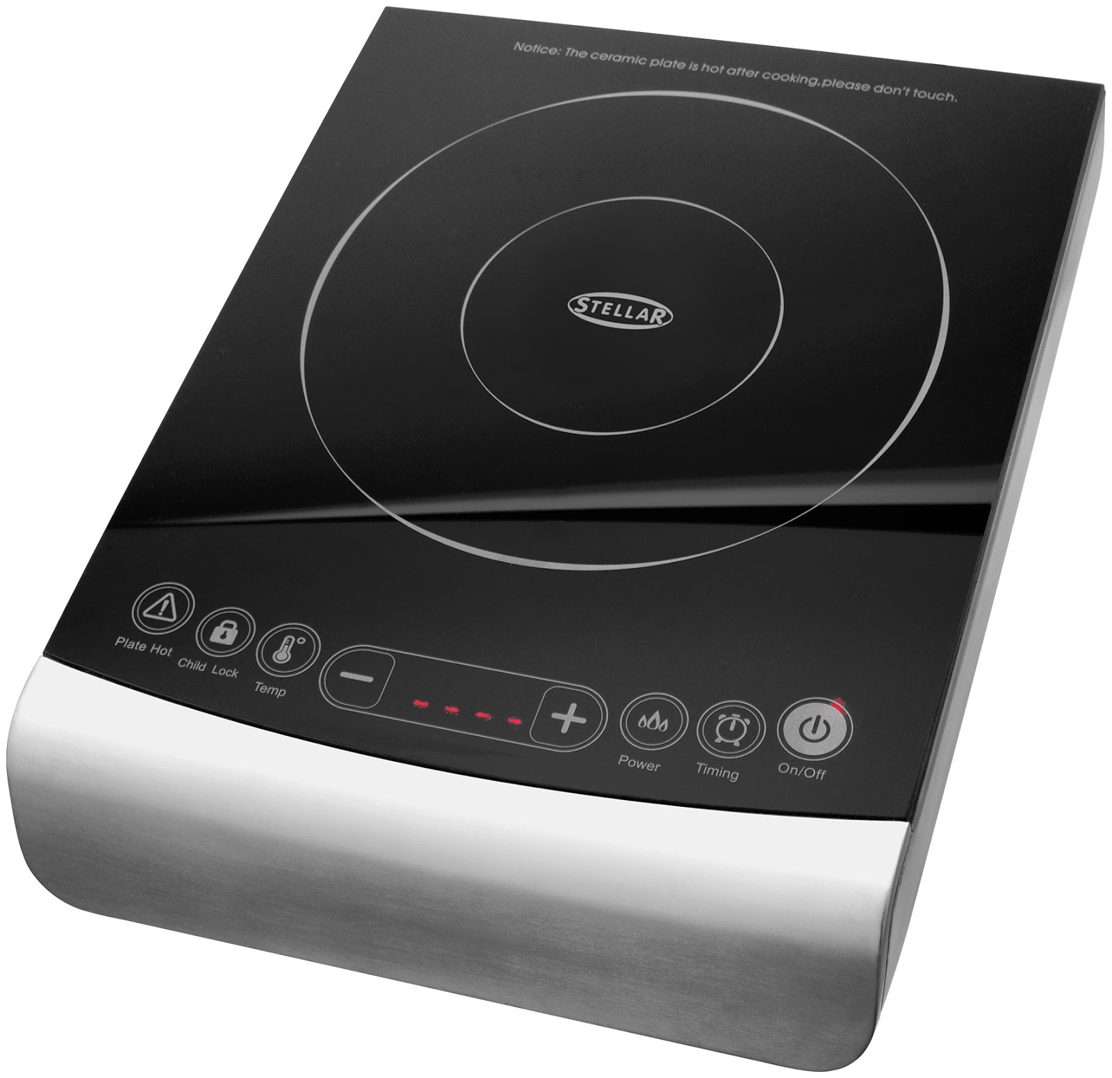 stellar portable touch control induction hob review a glug of oil. Black Bedroom Furniture Sets. Home Design Ideas