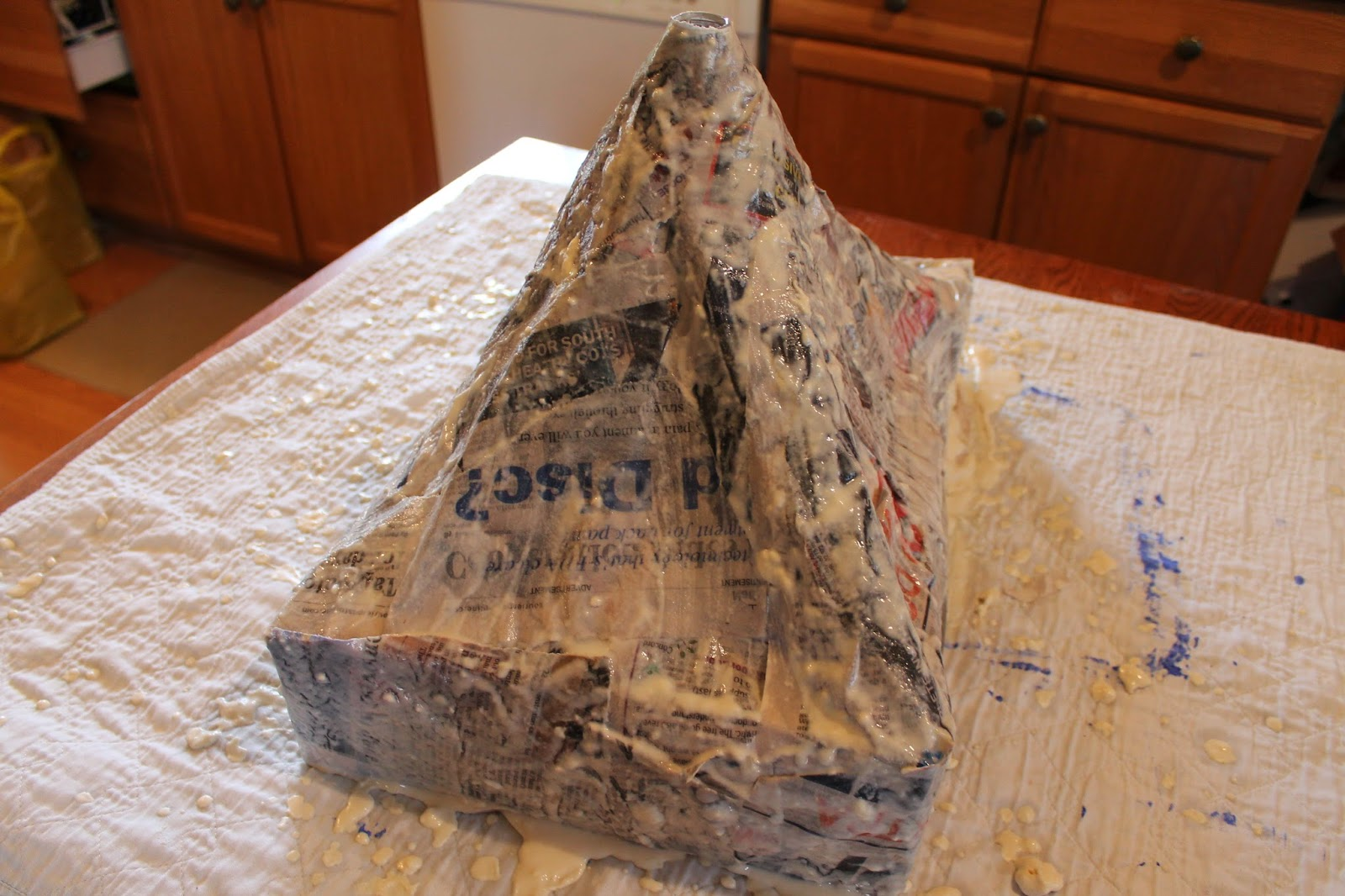A Rup Life How To Make A Paper Mache Volcano