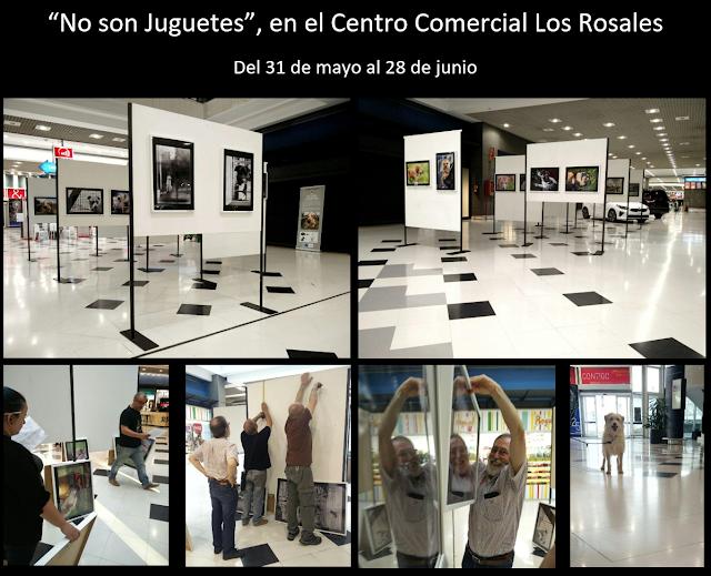 """Exposición """"No son Juguetes"""", en el CC Los Rosales, del 31 de mayo al 28 de junio."""