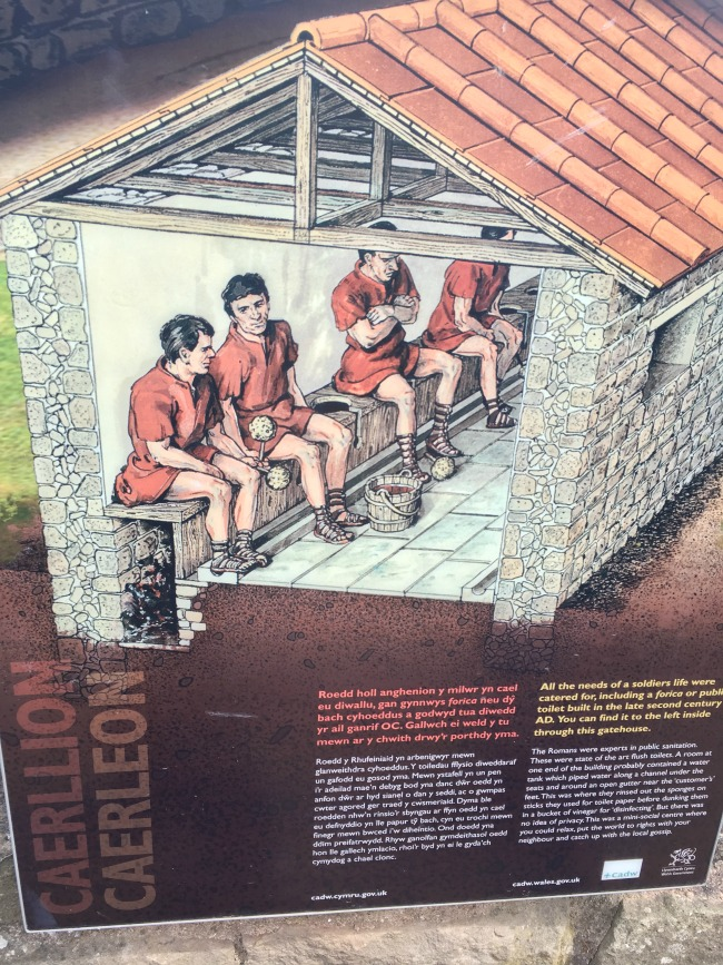 Caerleon-the-roman-fortress-of-isca-a-board-with-illustration-of-Roman-men-sat-on-the-toilet