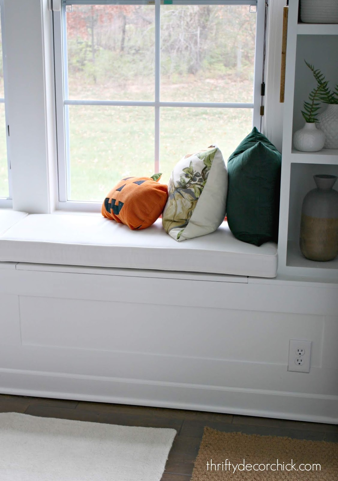 Window seat cushions with Sunbrella fabric