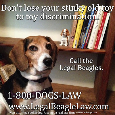 Call the Legal Beagles if you need help.* Not actual attorneys.