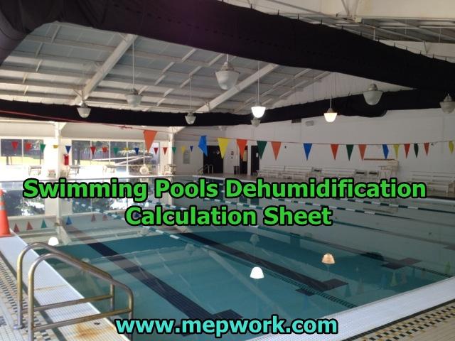 Swimming pools dehumidification calculation sheet - Swimming pool evaporation rate calculator ...