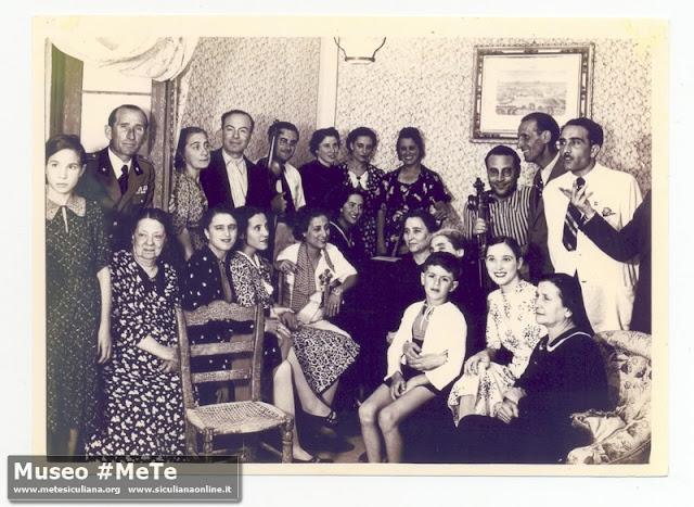 Ospiti a casa Basile nella tenuta di Monterosso, anno  1939
