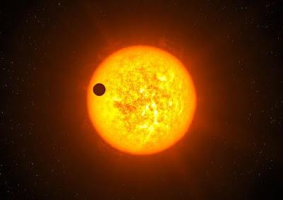 Imagen ilustrativa del planeta tierra cerca del sol