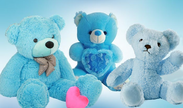 Blue teddy day, teddy day wishes images, blue teddy bear day images