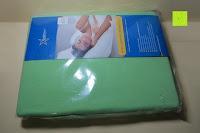 Verpackung: GOLD STERN Baumwolle Jersey-Stretch Spannbettlaken 140-160 x 200 cm, Apfel-Grün