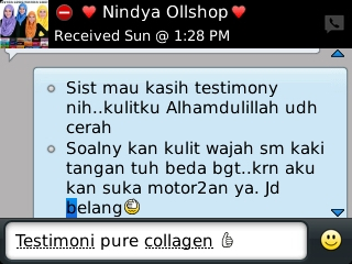 Testimoni Pure Collagen