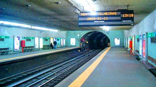 Areeiro Metro Station, Lisbon, Portugal.