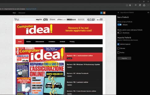 Novità browser Edge Windows 10 look modern
