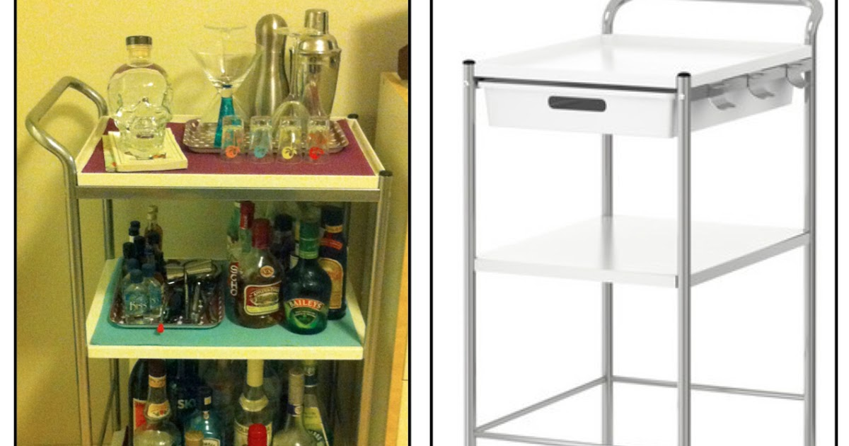 Ikea Bygel Kitchen Utility Cart Island Organizer