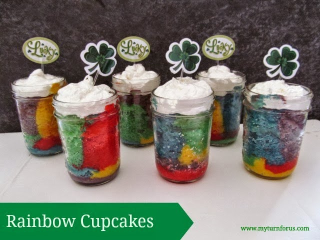 Rainbow Cupcakes in a Jar - FEATURED