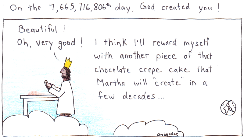 god created you beautiful! cartoon by robg