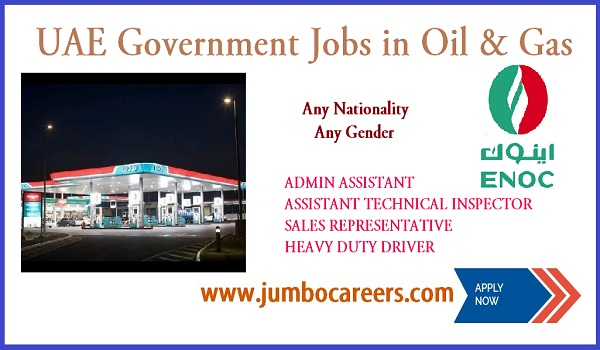 Latest UAE Government Jobs in Oil & Gas | ENOC Careers for Expats