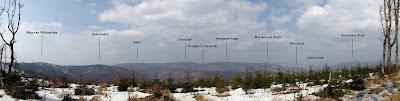 Panorama północna z Czupla.