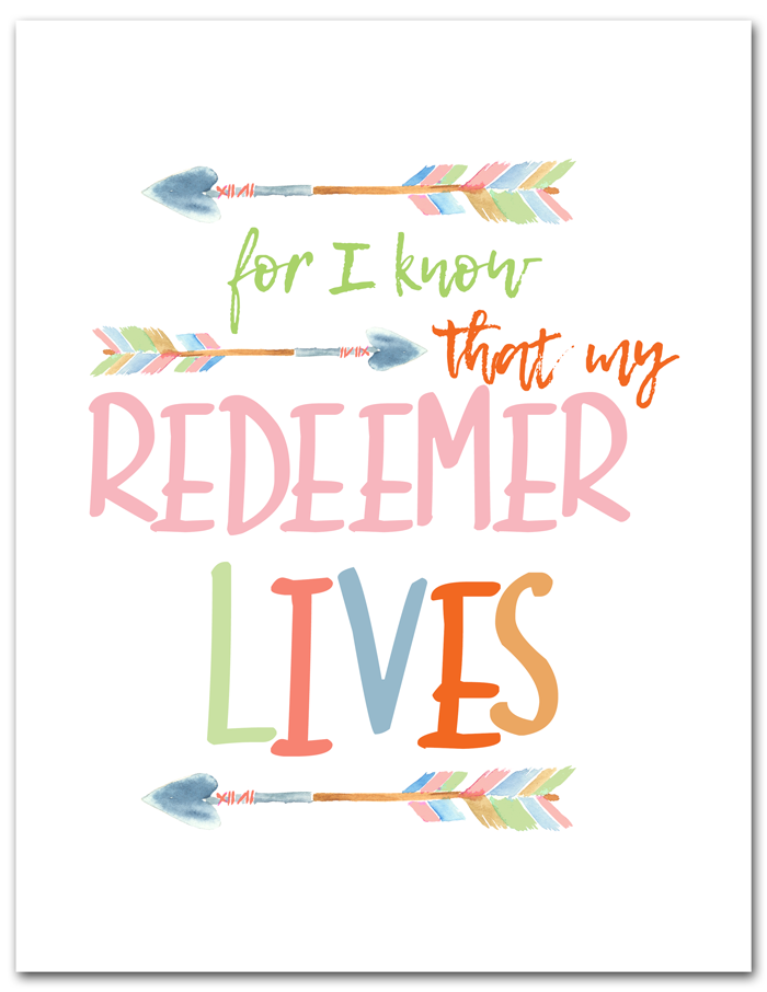 My Redeemer Lives Free Printable | Free 8x10 printable perfect for Easter decor. Instant download.