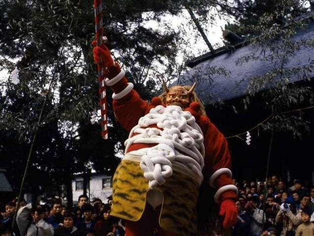 Oni Matsuri (Devil Festival), at Akumi Kanbe Sinmeisha Shrine, Toyohashi, Aichi