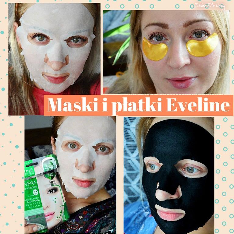 Koreańskie maski natkaninie i Złote płatki pod oczyEveline Cosmetics recenzja