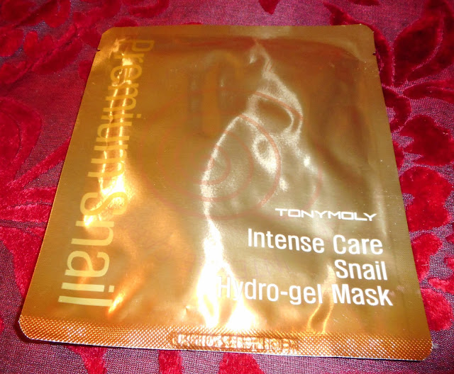 TonyMoly koreańska maska Intense Care Snail Hydro-gel Mask