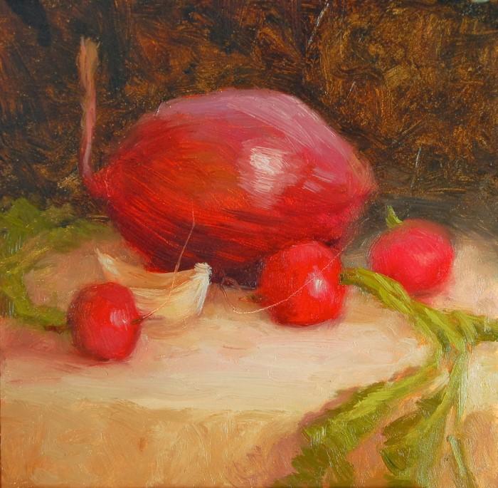 Пейзажи и натюрморты из фруктов и овощей