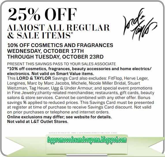 lord and taylor promotion code