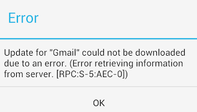 Fix Google Play Store Error Code rpc:aec:0]