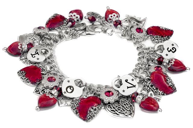 red heart handmade bracelet