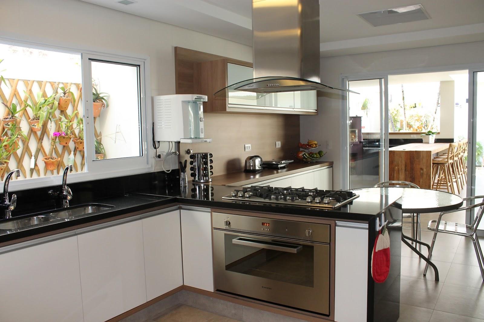 de Decoração: Cozinha e Sala de Jantar Integrada com Projeto 3D #966835 1600 1066