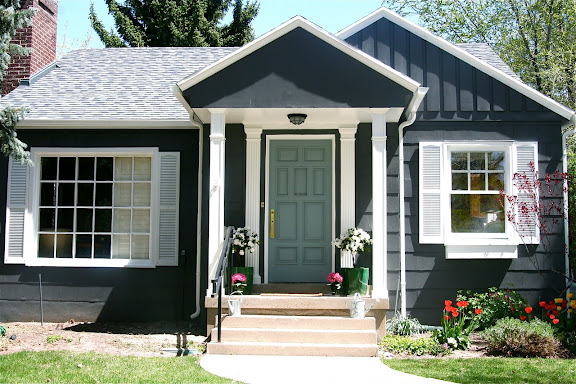 Modern jane a front door story - What color door goes with gray house ...