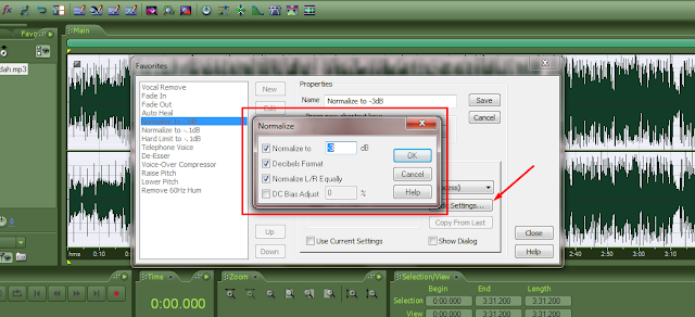 Tutorial adobe audition – Setting menu shortcut