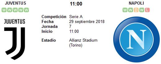 Juventus vs Napoli en VIVO