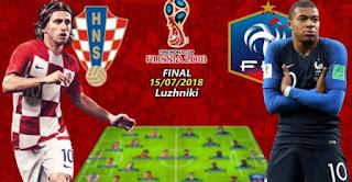 بث مباشر مباراة فرنسا وكرواتيا نهائي كأس العالم اليوم 15-07-2018